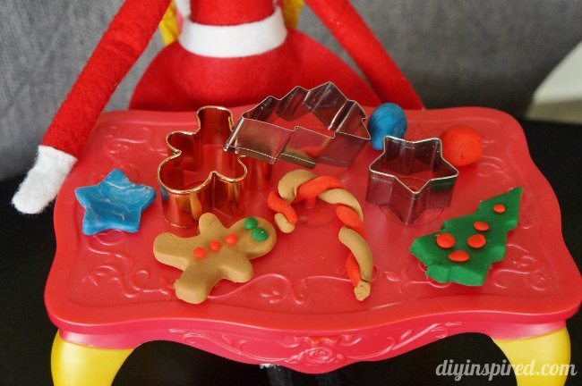 Last Minute Elf on the Shelf Ideas Day 14 Playdoh Elf (2)