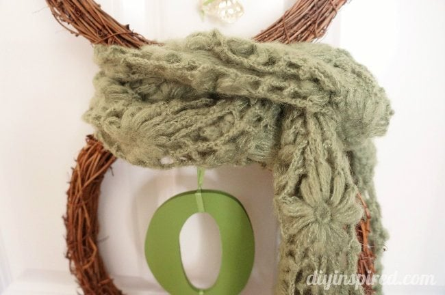 Snowman Joy Wreath With Scarf