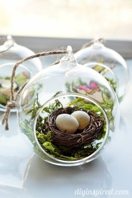 Winter Woodland Bird's Nest Ornament
