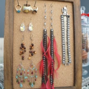 Cork Board Jewelry Organizer DIY
