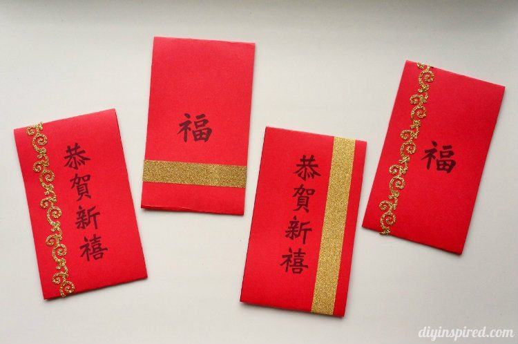 Easy Chinese New Year Red Envelopes DIY