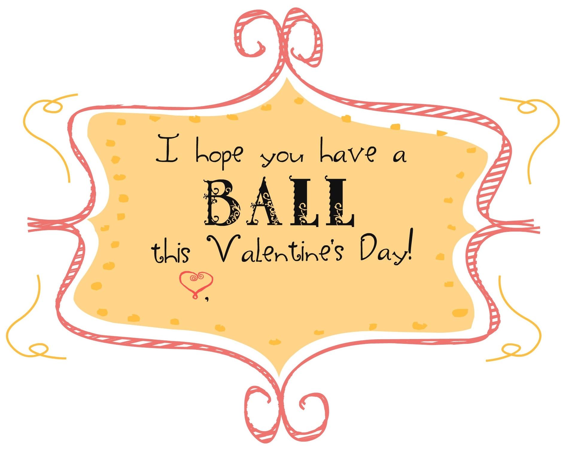 Bouncy Ball Valentine Printable - DIY Inspired
