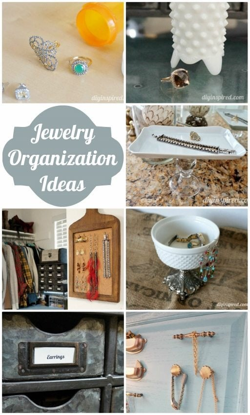 Upcycled Jewelry Organization Ideas - DIY Inspired