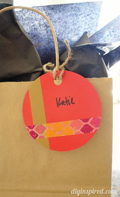 Washi Tape Gift Tag DIY