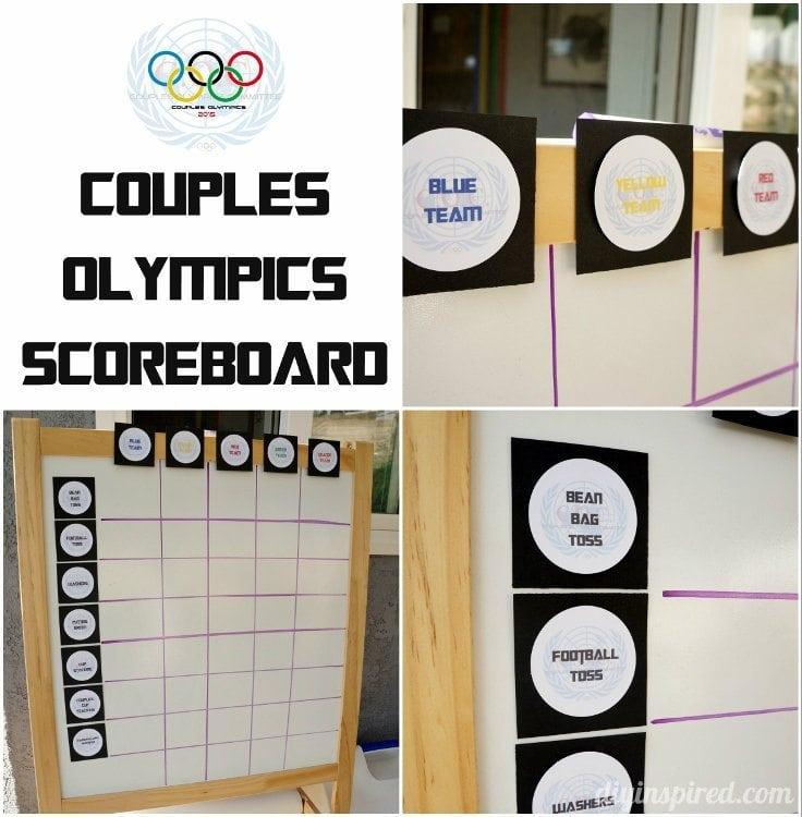 Couples Olympics Scoreboard