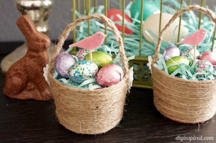 Mini Plastic Cup DIY Easter Baskets