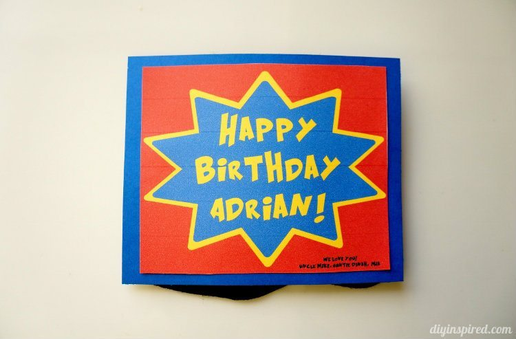 DIY Superhero Birthday Card
