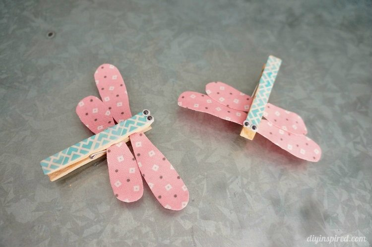 Dragonfly Clothespin Craft for Kids