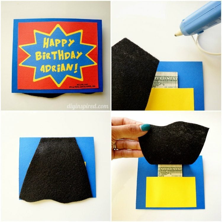 Easy DIY Superhero Birthday Card