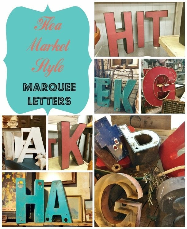 Flea Market Style Marquee Letters
