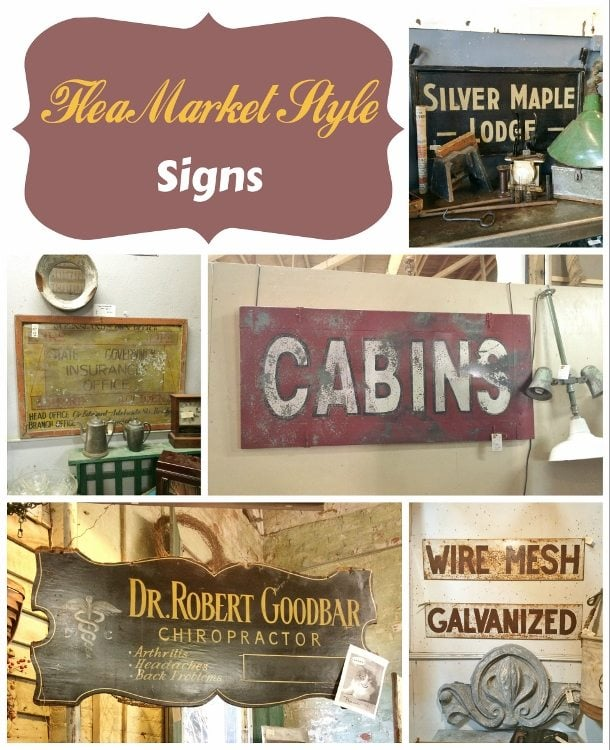 Flea Market Style Old signs