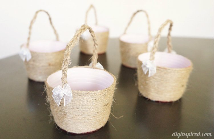 Plastic Cup Mini Easter Baskets DIY