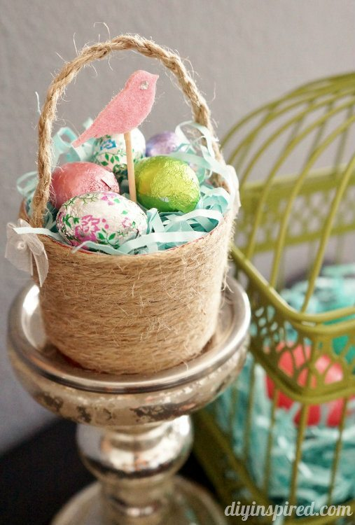 Plastic Cup Mini Easter Baskets -Repurposing Idea