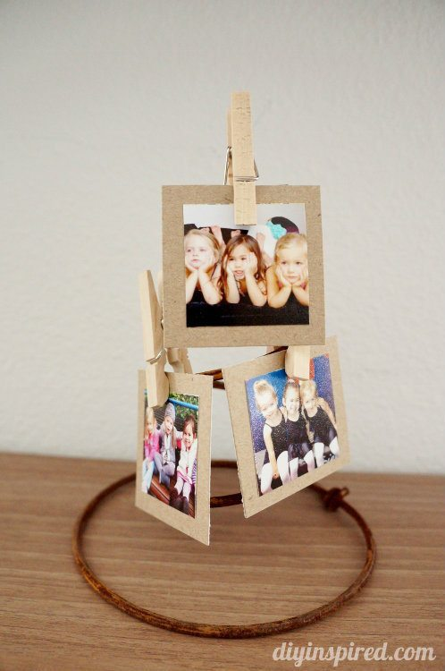Repurposed Bed Springs Photo Holder