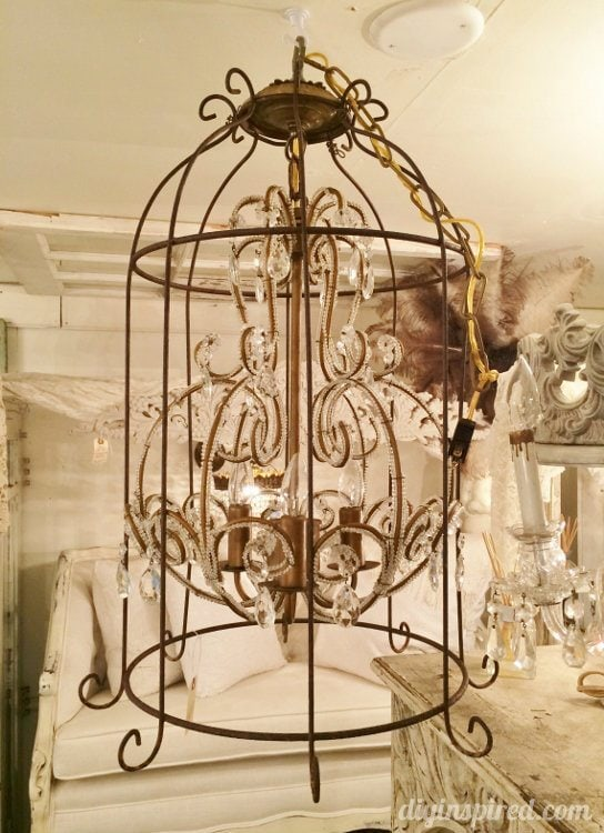 Repurposed Lighting Birdcage Chandeliers (1)