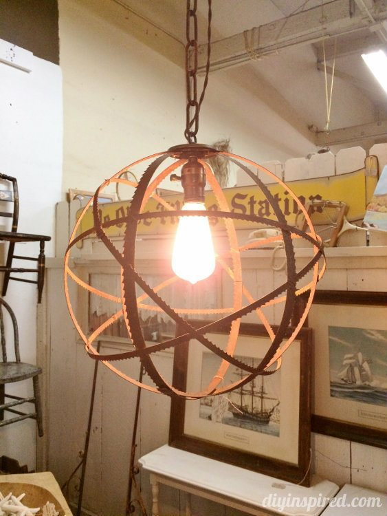 Repurposed Lighting with Saw Blades