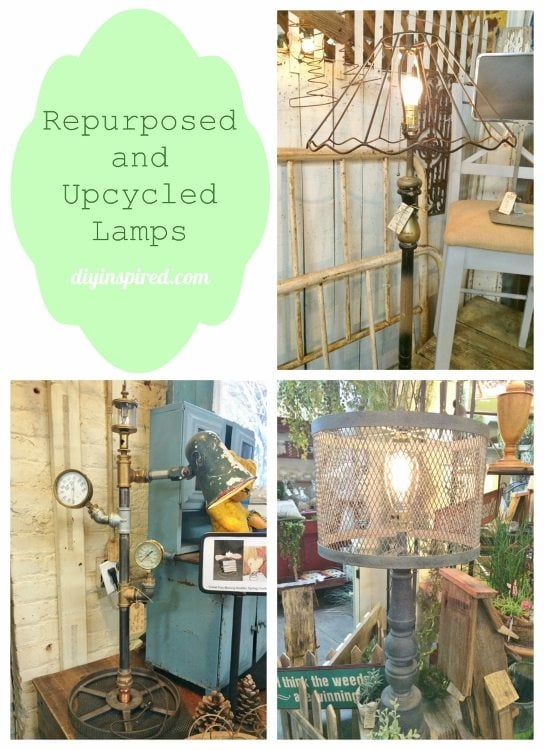 Repurposed and Upcycled Lamps