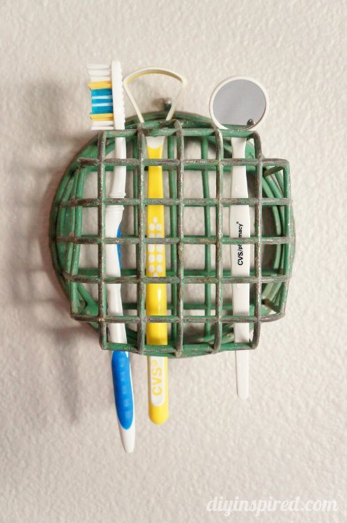 Repurposing Ideas - Toothbrush Holder