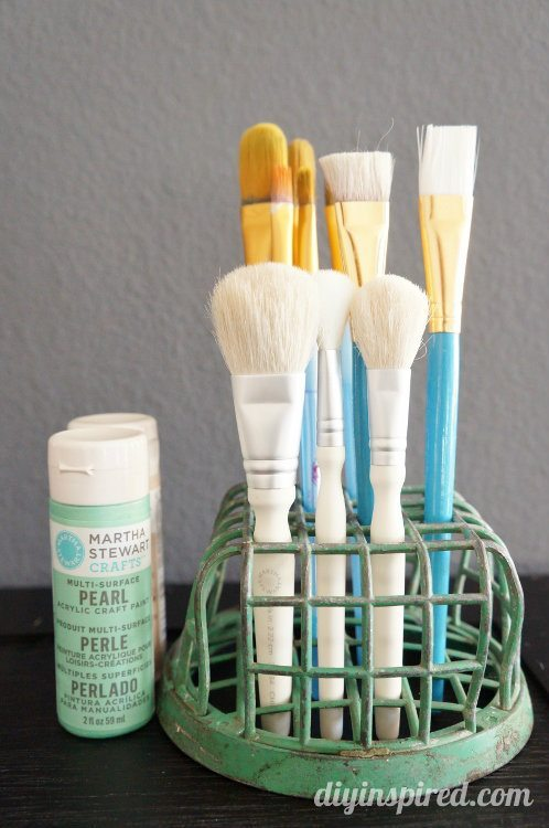 Repurposing Ideas - Paint Brush Holder