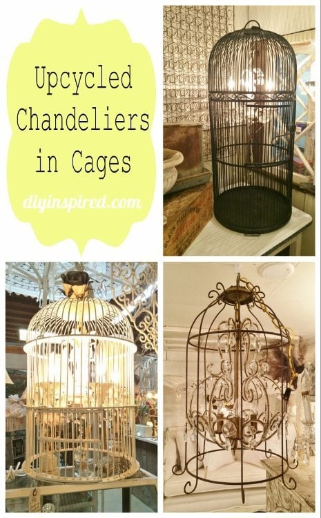 Upcycled Chandeliers in Cages