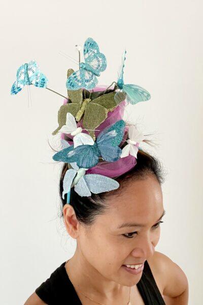 DIY Butterfly Kentucky Derby Hat Headband