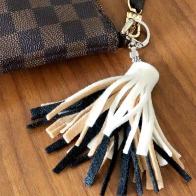 DIY Felt Tassel Keychains