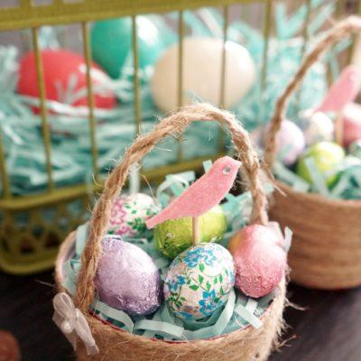Mini Plastic Cup DIY Easter Baskets
