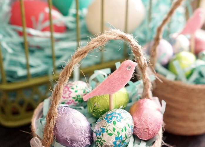 Recycled Easter Basket Idea