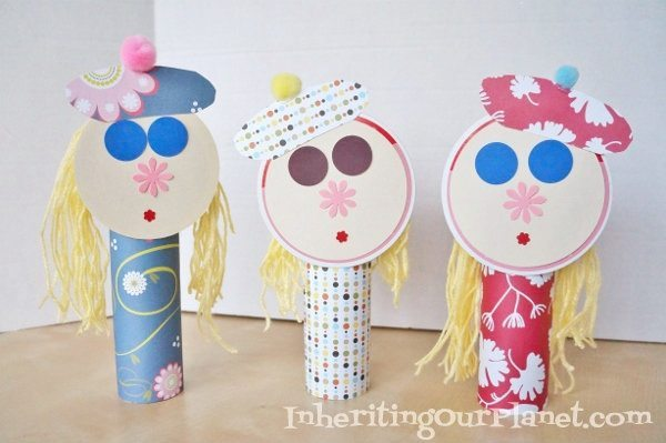 Recycled Paper Dolls (4)