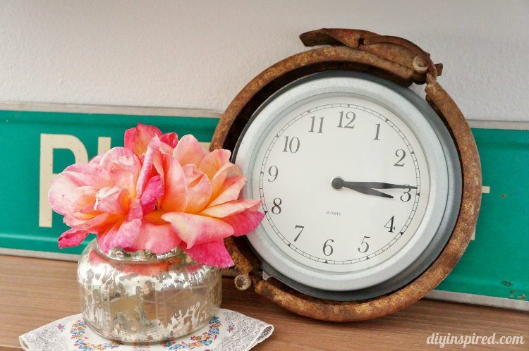Trash to Treasure Industrial Clock