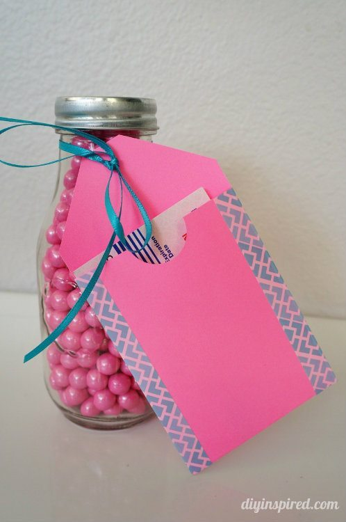 5 Minute Paper and Washi Tape Gift Card Holder