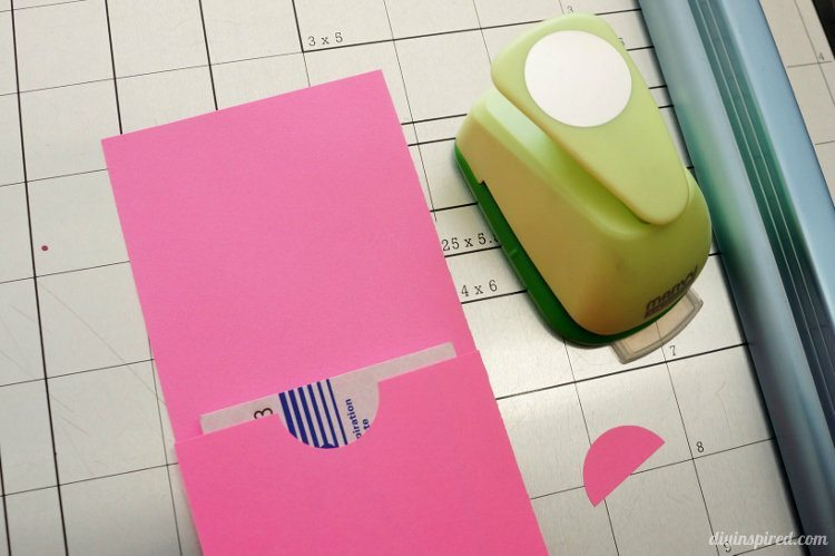 Astrobright Paper and Washi Tape Gift Card Holder