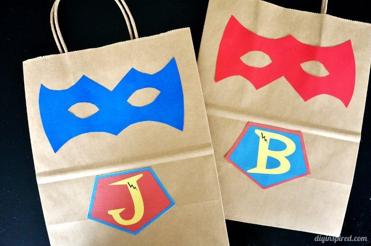 DIY Superhero Gift Bags