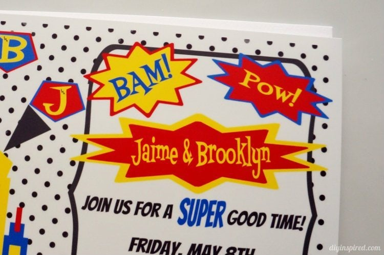 DIY Superhero Invitations