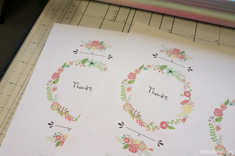 DIY Thank You Postcards with Graphics