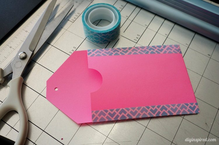 Easy Paper and Washi Tape Gift Card Holder