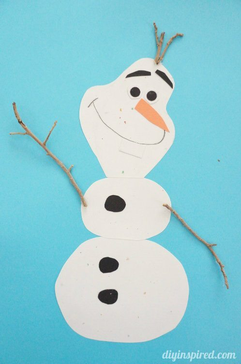 Frozen Themed DIY Olaf Card