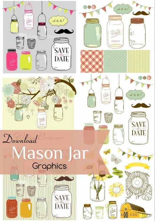 GraphicStock Mason Jar Graphics