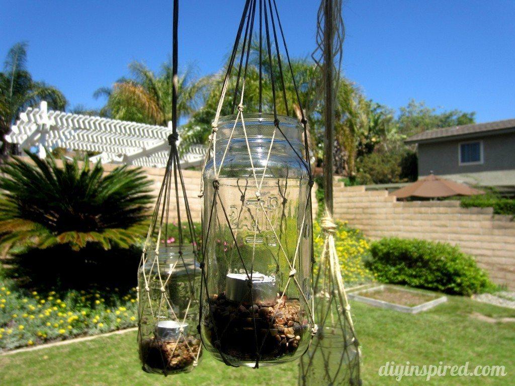 Hanging Macrame Lanterns