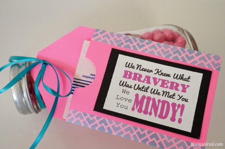 Paper and Washi Tape Gift Card Holder- Breast Cancer Survivor Gifts