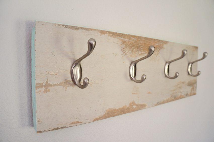 Repurposed Laminate Flooring Coat Hanger