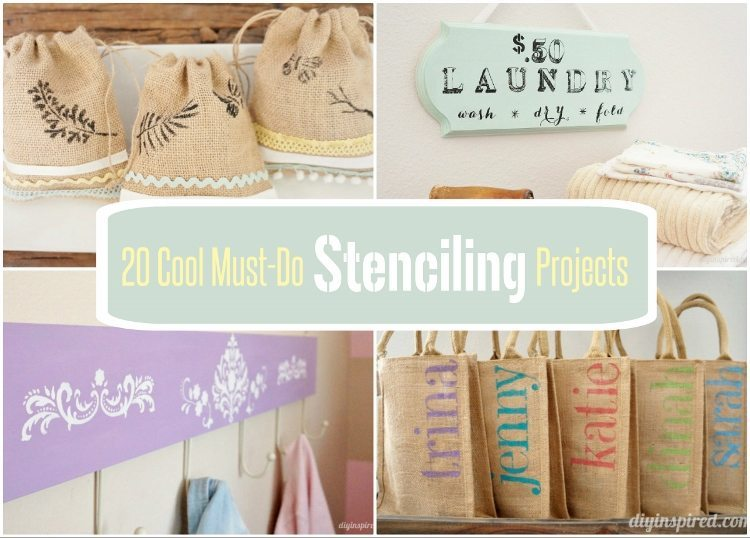 20 Cool Must Do Stenciling Projects