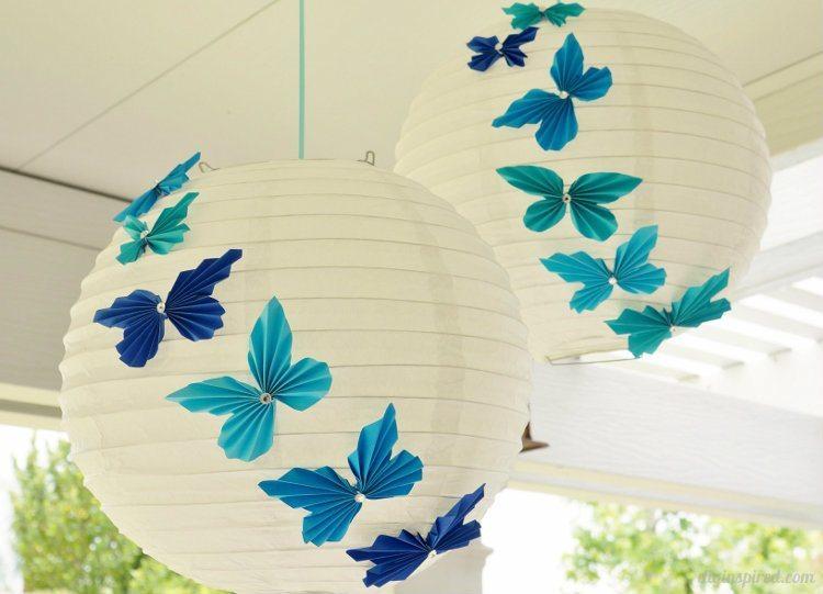 DIY Accordion Paper Butterflies