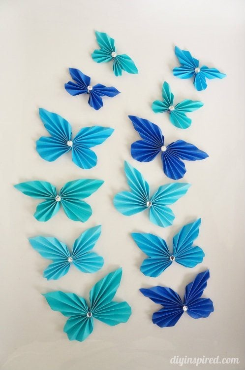 Accordion Paper Butterflies How To