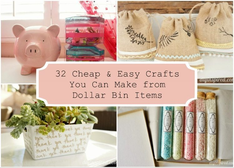 32 Cheap and Easy Crafts You Can Make from Dollar Bin Items