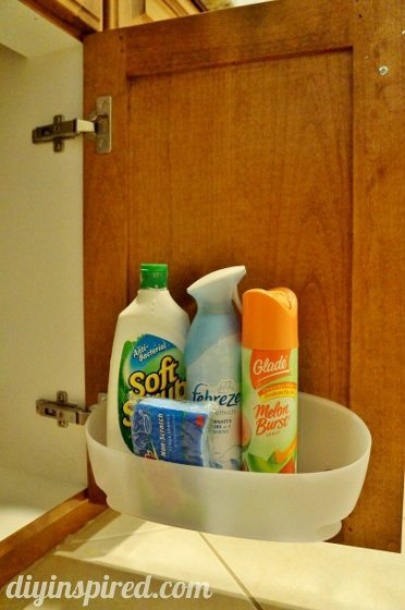 Cleaning Hack- Repurposed Bathroom Organization