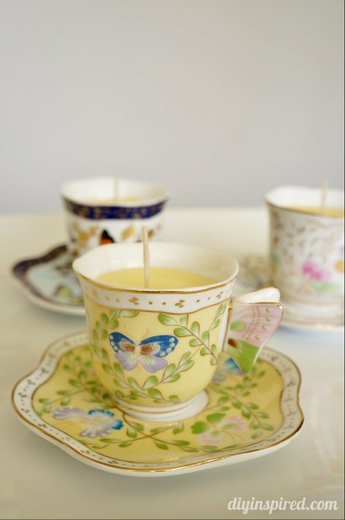 DIY Scented Teacup Candle How To