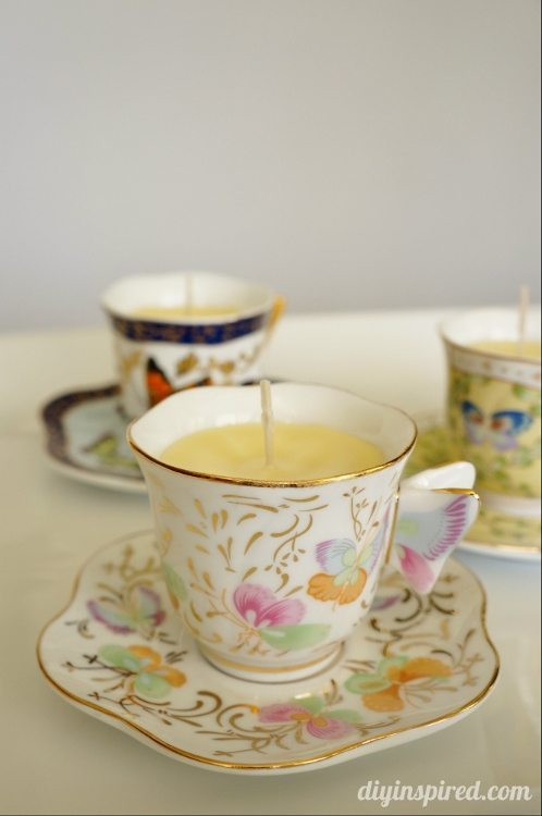 DIY Scented Teacup Candle Mother's Day Gift