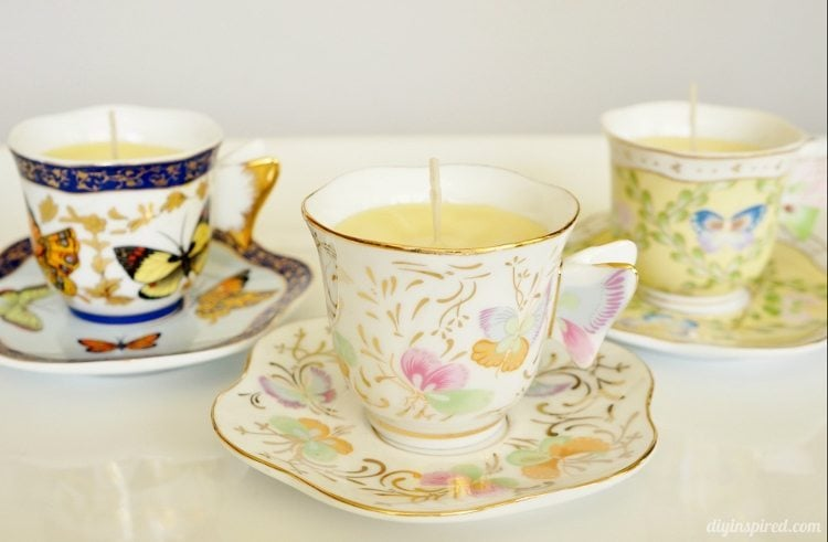 DIY Scented Teacup Candle