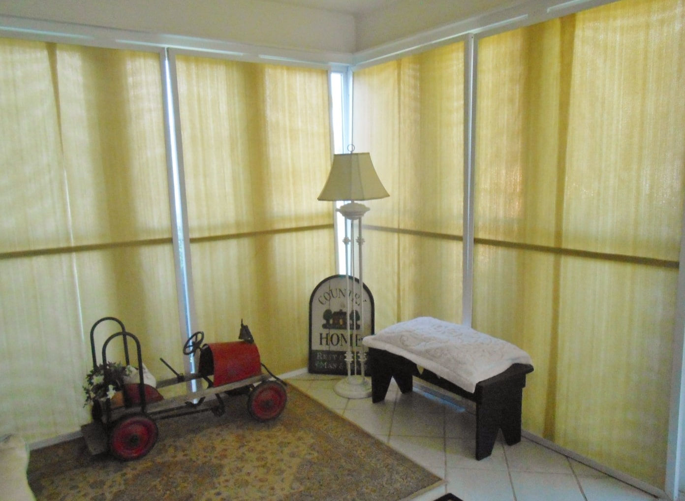 Diy Sunroom Window Treatments Diy Inspired